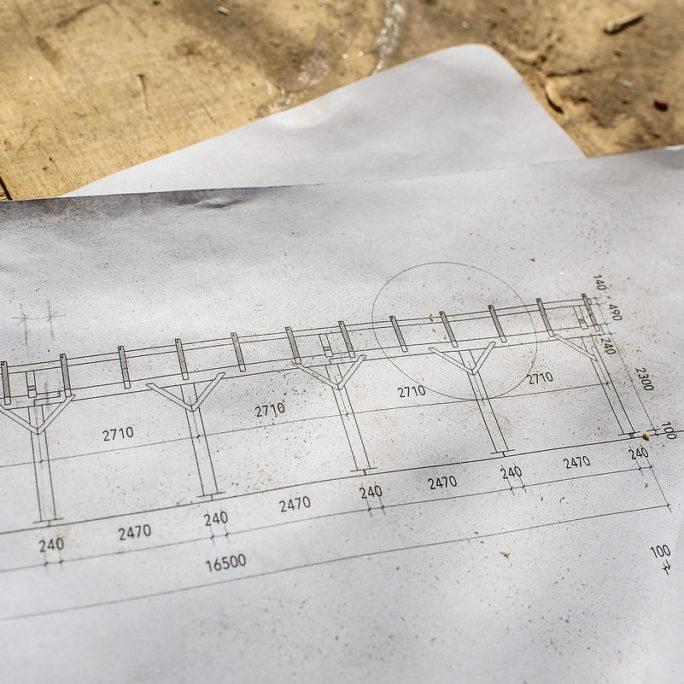 Plan von einem Projekt