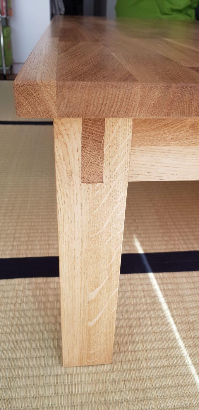 Ansicht vom Tischbeim des japanischen Tisches