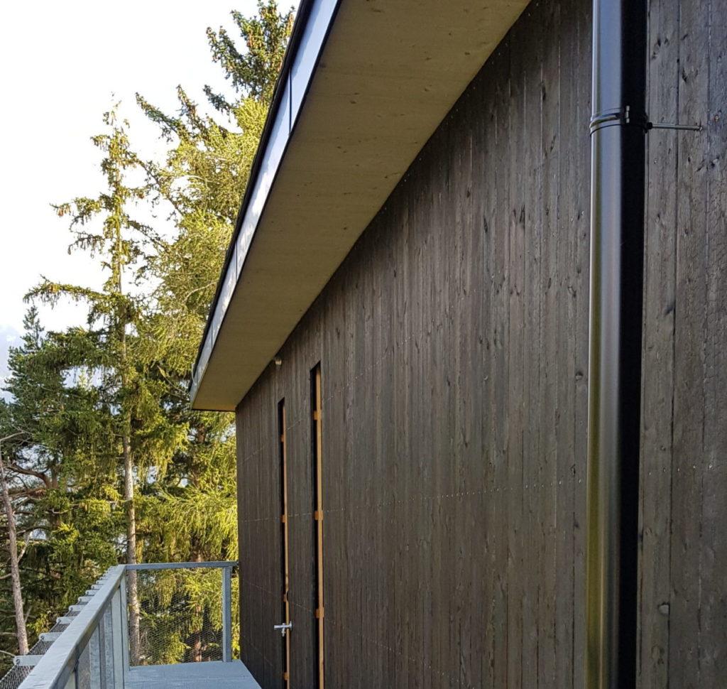 Yakisugi Hausfassade in Tirol