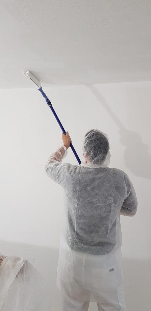Die Wände weißeln