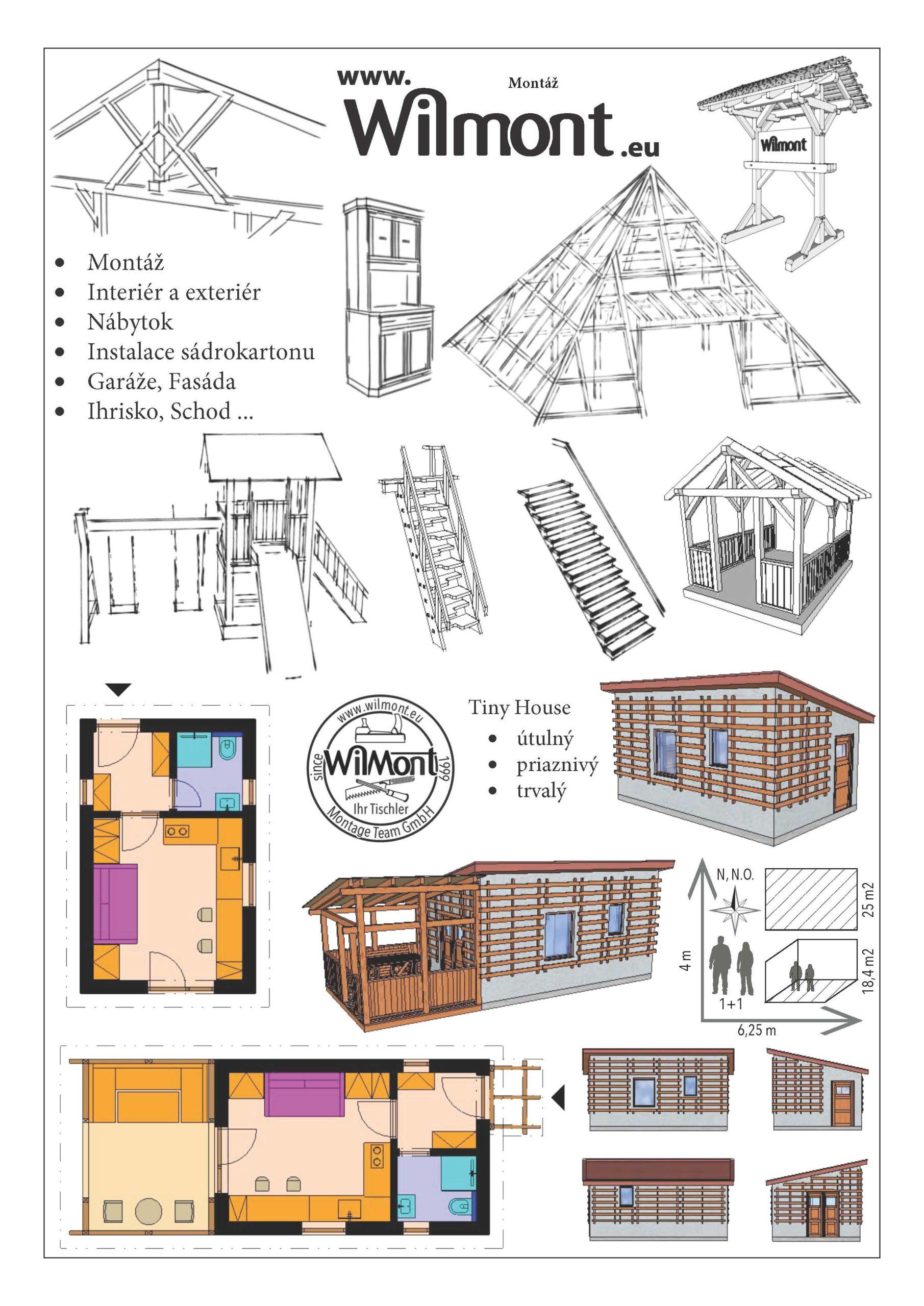 Dienstleistungen der Wilmont GmbH auf Foto abgebildet: Montage, Trockenausbau, Holzbau, Möbel etc.